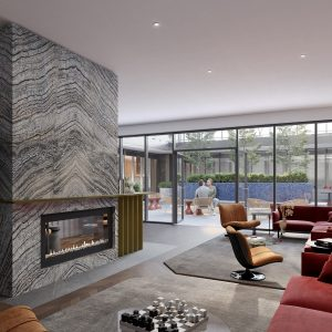 View of the Lounge at Oscar Residences