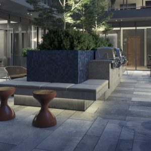 View of the Community Courtyard at Oscar Residences