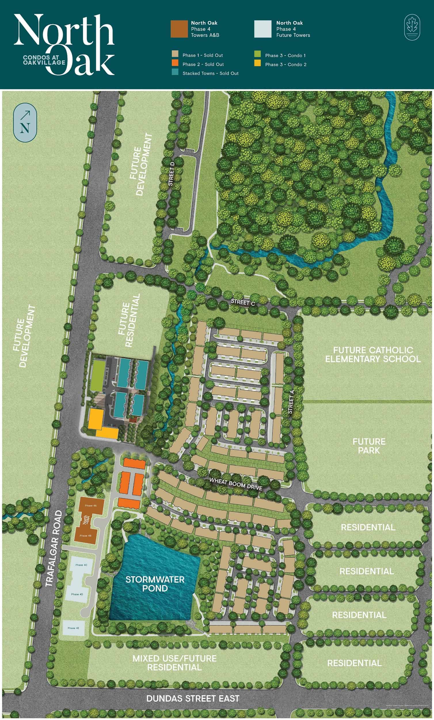 Site plan of North Oak in Oakvillage