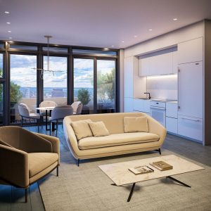 The Moderne Rendering Interior