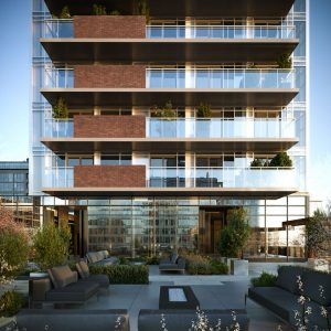 The Moderne Rendering Outdoor Terrace