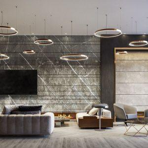 The Moderne Rendering Social Lounge