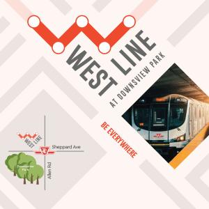 Advertising flyer for WestLine Condos